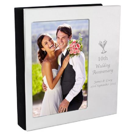 Champagne Flutes Personalised Wedding Anniversary Photo Frame Album